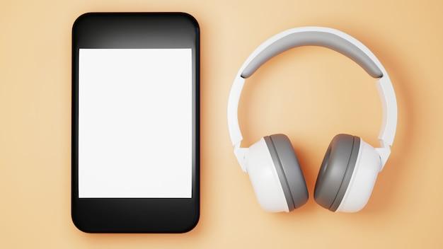 Digitale online-bildung. 3d des handys über das lernen am telefon.