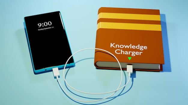 Digitale online-bildung. 3d von handy, buch über das lernen am telefon, computer. soziales distanzkonzept. klassenzimmer online-internet-netzwerk.