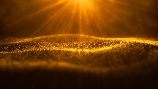 Digitale partikelwelle und licht abstrakter hintergrund