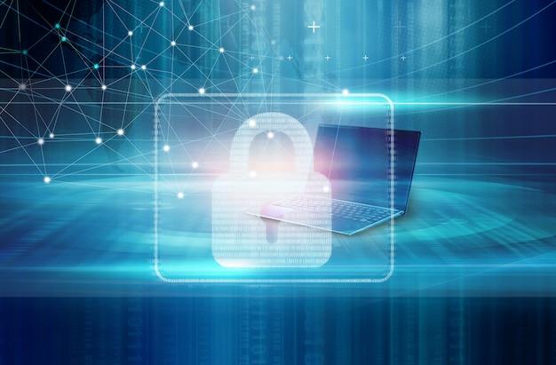 Digitale sicherheit in der internetverbindung