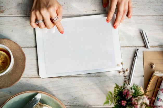 Digitale tablette des entwurfsraum-modells