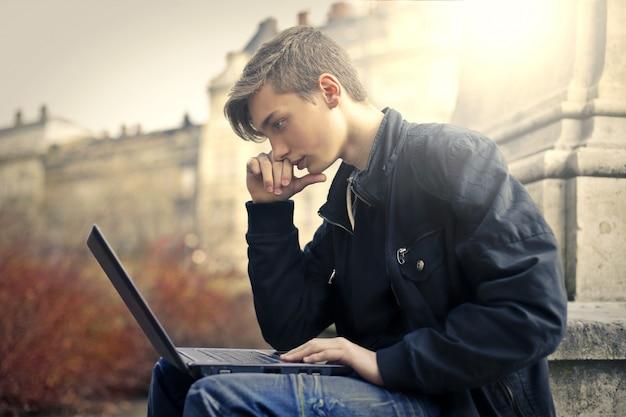 Digitale welt der teenager