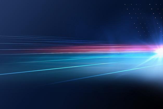 Digitaler abstrakter technologiehintergrund mit lichtstrahlen und sonneneruption