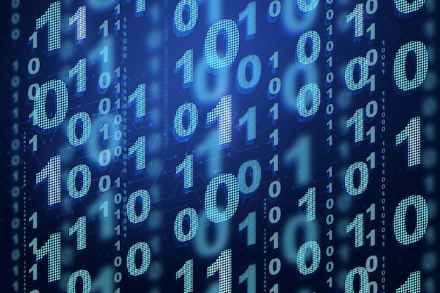 Digitaler binärcode 01 abstrakter hintergrund
