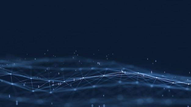 Digitaler hintergrund der abstrakten netzwerktechnologie des plexus.