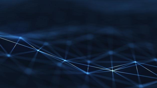 Digitaler hintergrund der plexus-abstrakten netztitel-technologie.