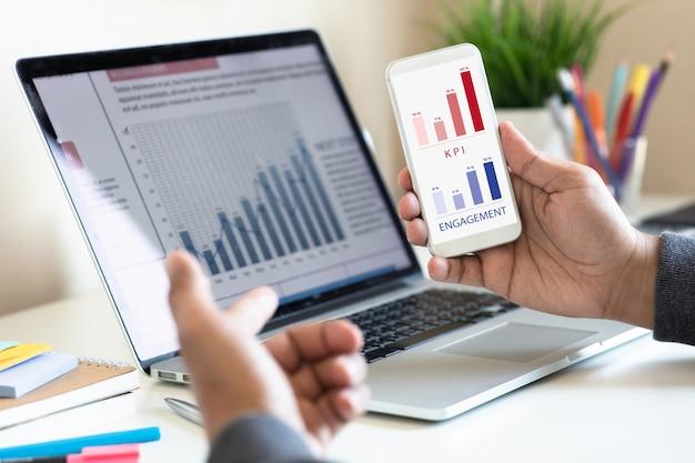 Digitaler marketingplan mit kundenbewertung