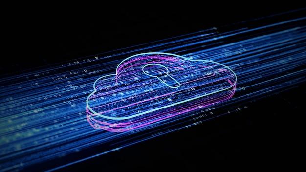 Digitales cloud-computing Premium Fotos