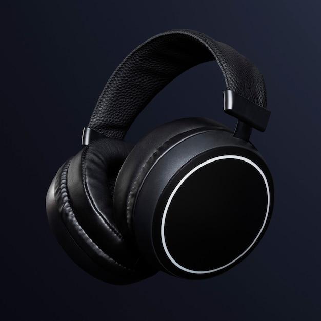 Digitales gerät mit schwarzen kopfhörern