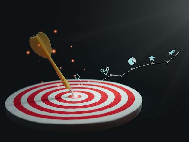 Digitales marketing seo fotokonzept idee mit infografik