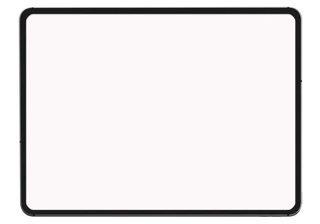 Digitales tablett auf weißem hintergrund auf weißem hintergrund für das gegenwärtige werbeprodukt oder die webseite