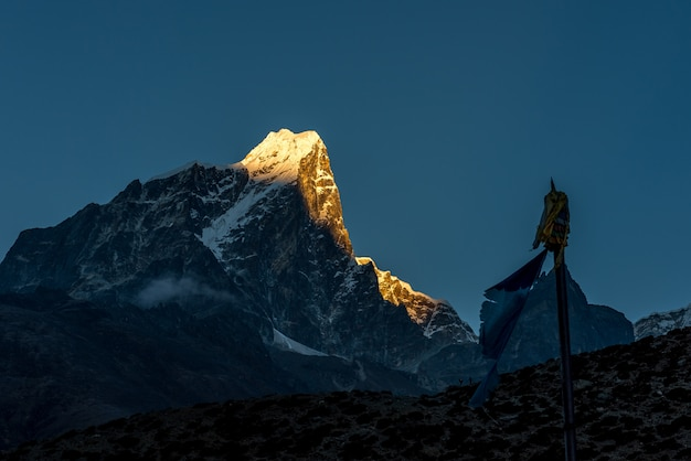 Dingboche village, everest base camp trek von tengboche nach dingboche, nepal