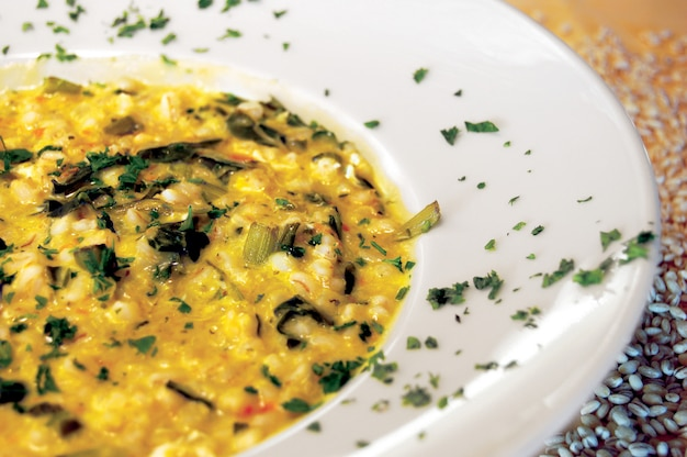 Dinkel-suppe