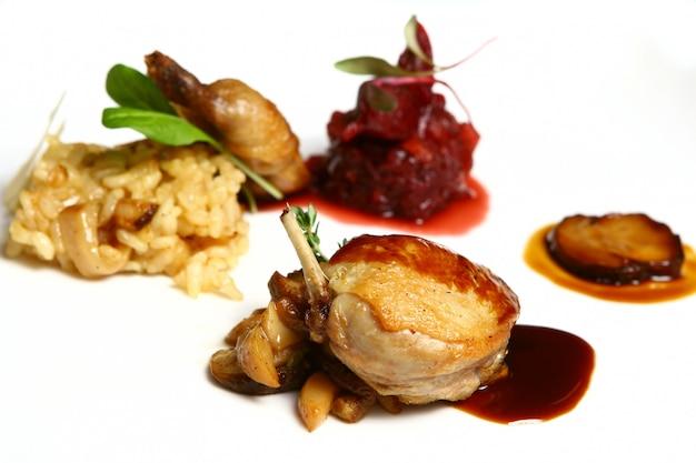 Dish mit fleisch