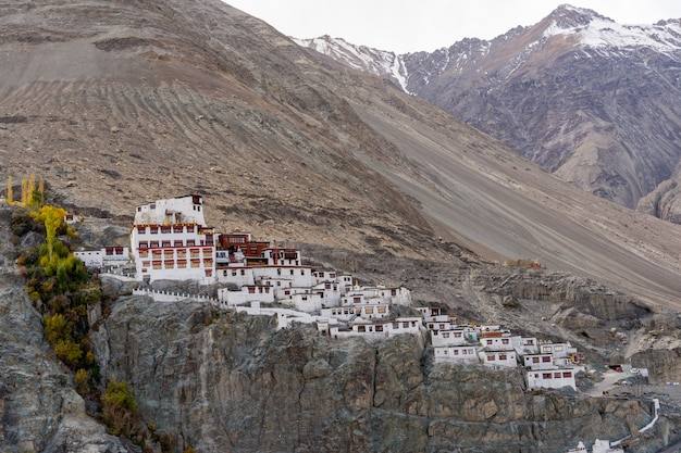 Diskit monastery oder diskit gompa ist im großen berg, nubra tal, leh ladakh