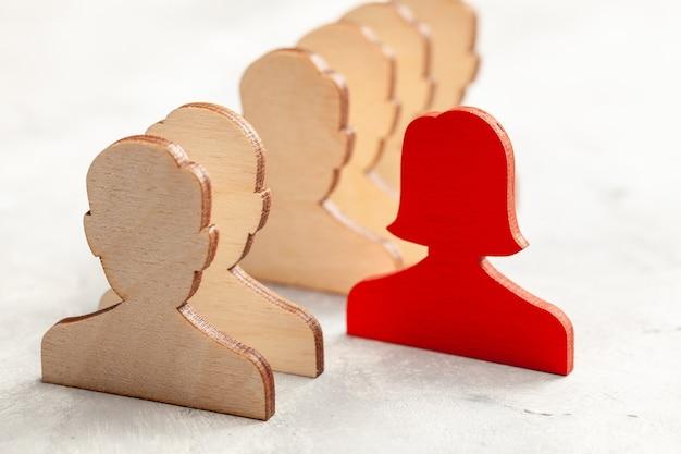 Diskriminierung von frauen. arbeitermädchen. anwerbung oder auswahl einer führungskraft. hr.