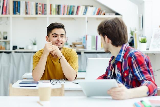 Diskussion im klassenzimmer