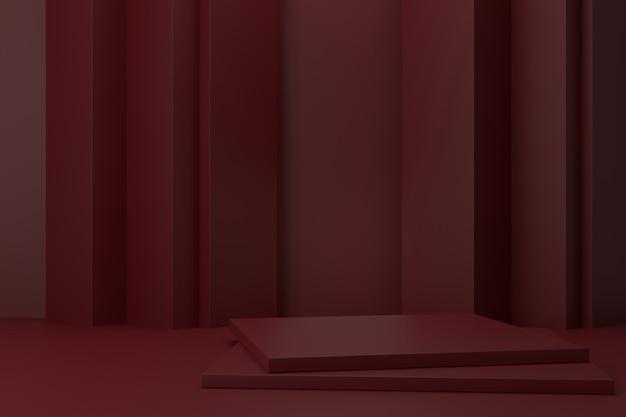 Displayständer design. 3d-rendering.