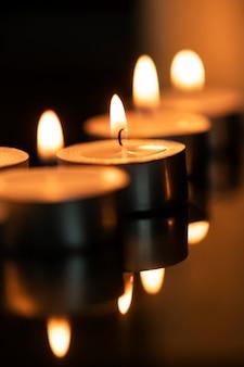 Diwali-kerzenhintergrund, ästhetisches flammenbild