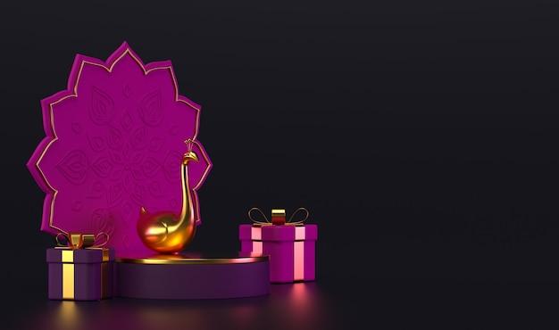 Diwali, lichterfestszene.