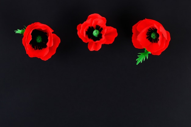 Diy papier rote mohnblume anzac day