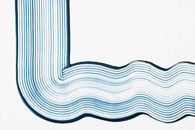 Diy welle strukturierter hintergrund in blauer und weißer experimenteller abstrakter kunst