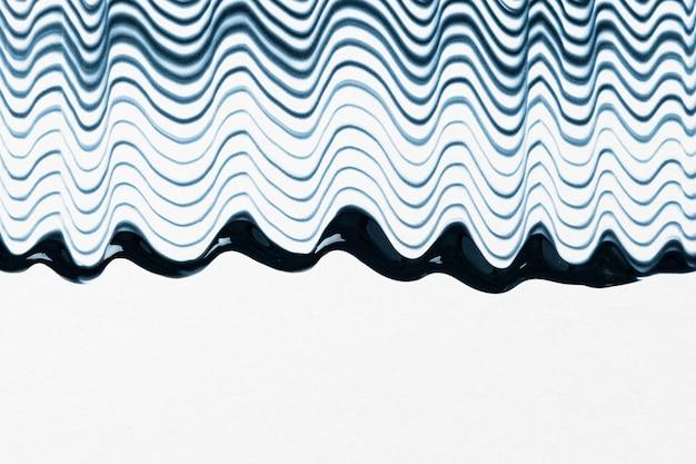 Diy wellenförmiger strukturierter grenzhintergrund in blauer und weißer experimenteller abstrakter kunst