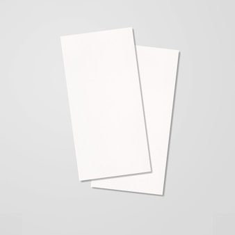 Dl doppelfaltbroschüre open white blank