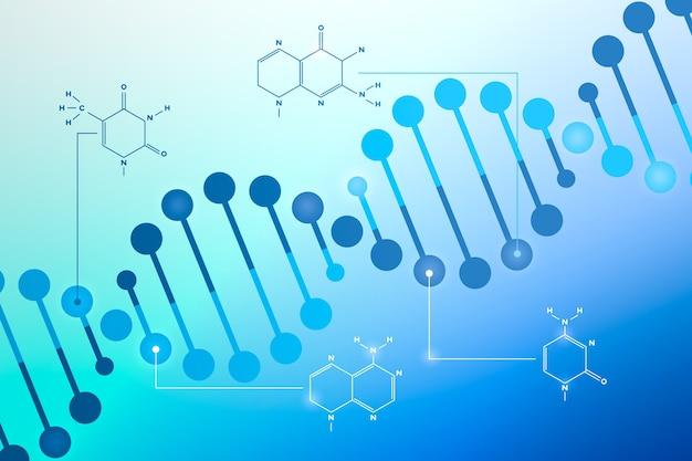 Dna & chromosom für covid- oder koronavirus-zusammenfassungshintergrund