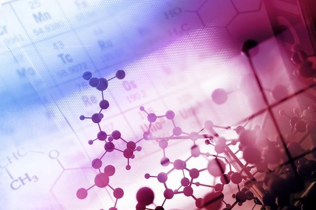 Dna, molekül, chemie im laborversuch