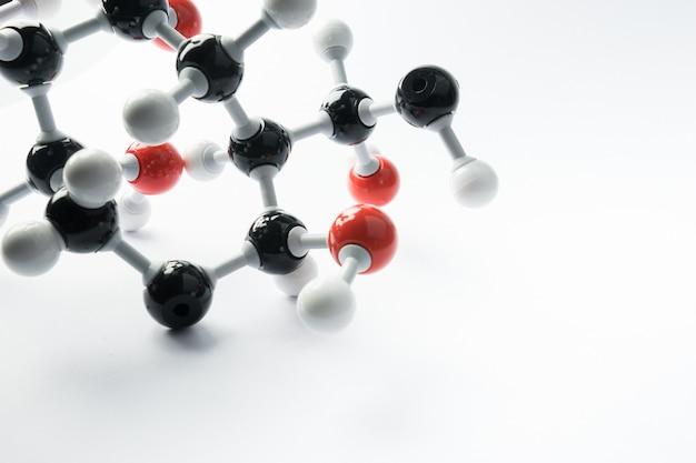 Dna- und molekülmodell für wissenschaftskonzept