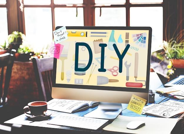Do it yourself projektgrafikkonzept