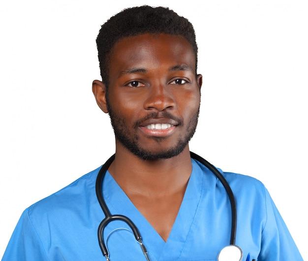 Doktor mit dem stethoskop getrennt