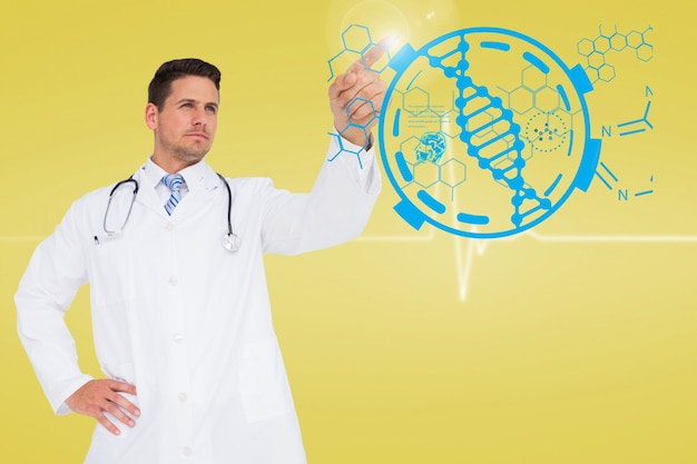 Doktor mit einem technologischen hintergrund