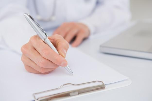 Doktorschreiben in einer zwischenablage