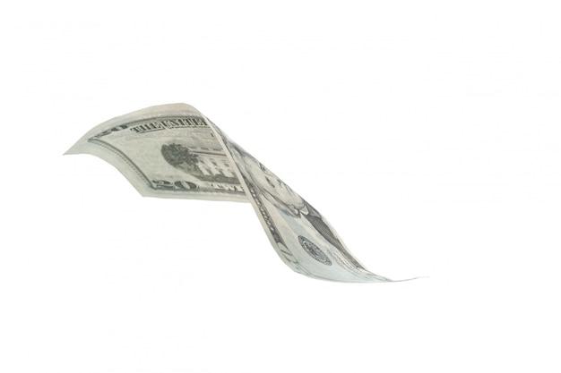 Dollar, isoliert auf weiss