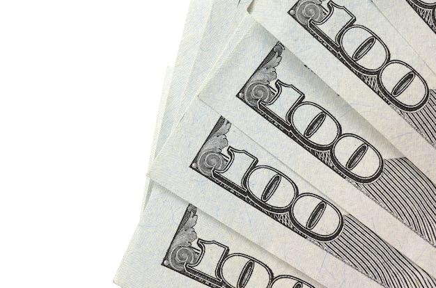 Dollar-scheine. amerikanisches geld getrennt auf weiß mit exemplarplatz
