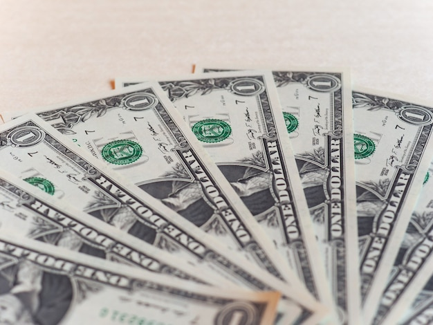 Dollar (usd)-noten, vereinigte staaten (usa) mit exemplar