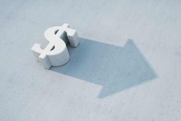 Dollar wächst, 3d-konzept