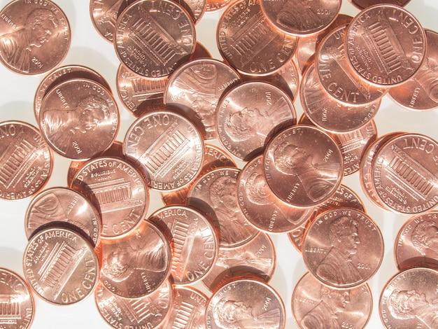 Dollarmünzen 1 cent weizengroschen cent