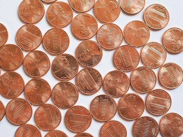 Dollarmünzen 1 cent