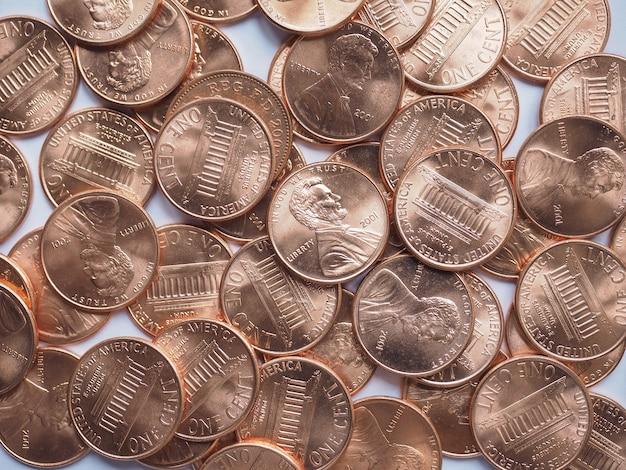 Dollarmünzen hintergrund