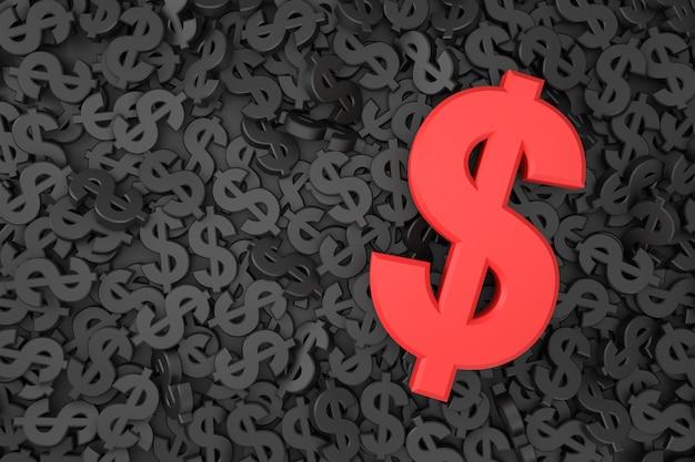 Dollarzeichen-banner im 3d-rendering