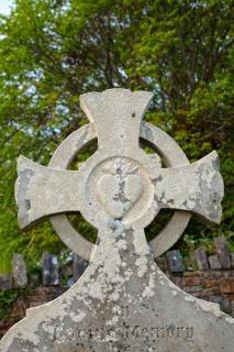 Donegal friedhof keltisches kreuz hdr rest