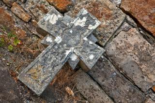 Donegal friedhof steinkreuz hdr celtic