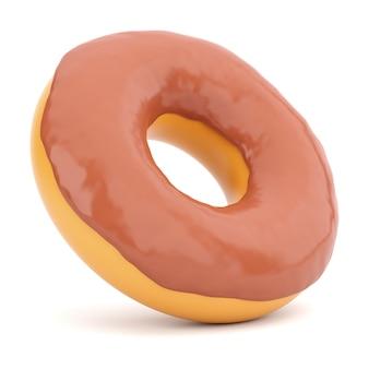 Donut in schokoladenglasur isoliert
