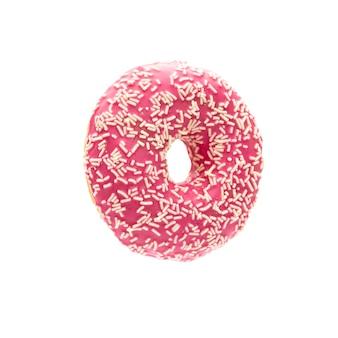Donut isoliert auf weißem hintergrund.