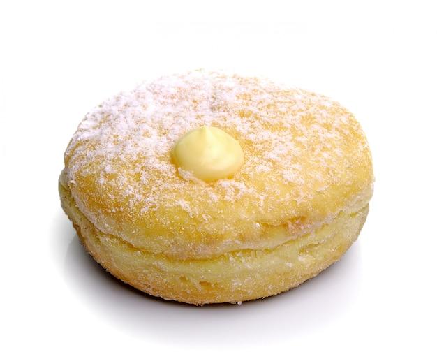 Donut lokalisiert auf einem weißen hintergrund