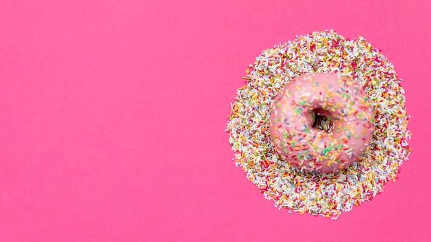 Donut mit streuseln kopieren platz