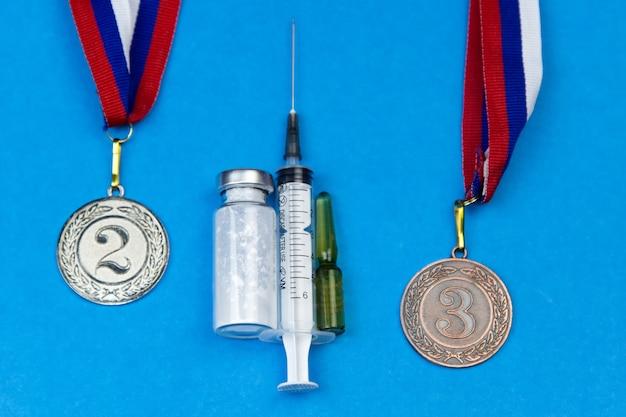 Doping-athleten in wettbewerben.